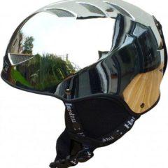 Adults Auto Chrome Ski Helmet Silver