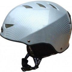 Adults Silver Cabon Fibre Ski Helmet Grey