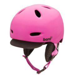 Bern Berkeley Womens Zipmold Helmet2013 Matte Magenta w/ Black Visor Knit M/L