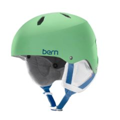 Bern Diabla EPS Thinshell Girls Snowboard Helmet 2015 Satin Lime M/L