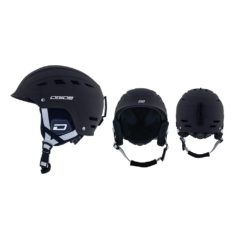 Dirty Dog UFO Snow Helmet - Black / White-Large