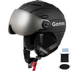 Gonex Ski Helmet with convertible and detachable visor
