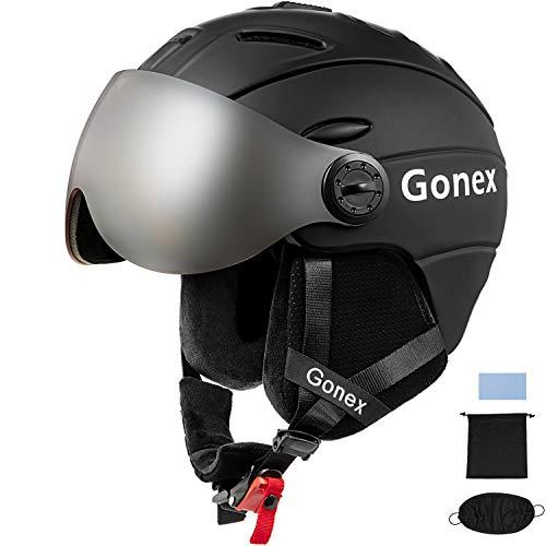 Gonex Ski Helmet with convertible and detachable visor